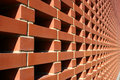 Red Bricked Wall Royalty Free Stock Image
