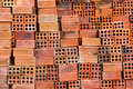 Red bricks for its construction ideal advertising illustrations Royalty Free Stock Images