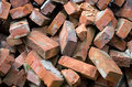 Red bricks pile image of Stock Photos