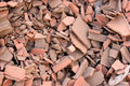 Red bricks rubble Stock Image