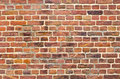 Red brickwall surface for usage as a background Royalty Free Stock Photo