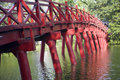 Red Bridge in Hanoi Royalty Free Stock Photos