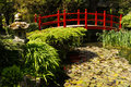 Red bridge irish national stud s japanese gardens kildare ireland a wooden the garden in the of are the finest in Stock Image