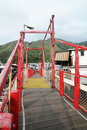 Red Bridge in Tai O Royalty Free Stock Image