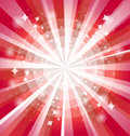 Red bright background with rays vector illustration eps Royalty Free Stock Photography