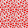 Red bright hearts seamless vector pattern, illustration for Valentine`s day celebrating.