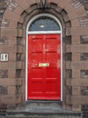 Red British door Royalty Free Stock Photo