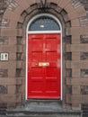 Red British door Royalty Free Stock Photo