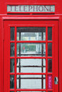 Red British Phone Box Stock Image