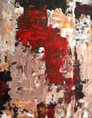 Red And Brown Abstract Art Pai...