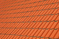Red brown ceramic roof tiles pattern background Royalty Free Stock Photo