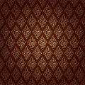 Red brown colors damask style pattern design original pattern a and symbol series Royalty Free Stock Images