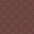 Red brown colors flower pattern design korean traditional patte series Royalty Free Stock Image