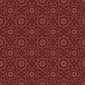 Red brown colors flower pattern design korean traditional patte series Royalty Free Stock Photo