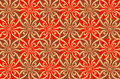Red and brown floral pattern Stock Images