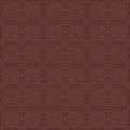 Red brown square grid pattern korean traditional pattern design series Stock Photos