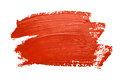 Red brush strokes isolated on the white background Stock Images