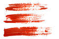 Red brush strokes set of Royalty Free Stock Photo