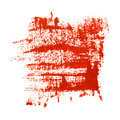Red brush strokes on the white background Royalty Free Stock Photo