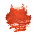 Red brush strokes on the white background Royalty Free Stock Image