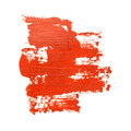 Red brush strokes on the white background Stock Images