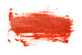 Red brush strokes on the white background Royalty Free Stock Images