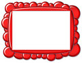 Red Bubble Frame Royalty Free Stock Photos