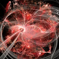 Red Bubbles Fractal Concept With Light Royalty Free Stock Photo