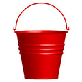 Red  bucket Royalty Free Stock Photos