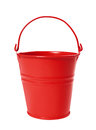 Red bucket isolated on white background Royalty Free Stock Photography