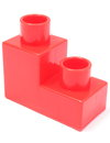 Red building block on white background Royalty Free Stock Photo