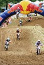 Red bull motocross competition superrace taking place in germany Royalty Free Stock Images