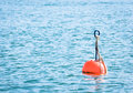 Red buoy lake Royalty Free Stock Photos