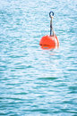 Red buoy lake Royalty Free Stock Image