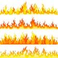 Red Burning Fire Flame Logo set design vector template.