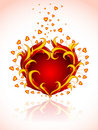 Red burning heart to valentine's day Royalty Free Stock Images