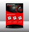 Red business brochure flyer design layout template in A4 size,Po