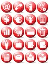 Red business icons