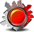 Red button download Royalty Free Stock Photo