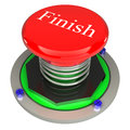 The red button, finish, 3d concept isolated Stock Photography
