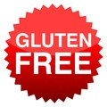 Red button gluten free Royalty Free Stock Photo
