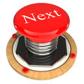 The red button, the next, 3d concept Royalty Free Stock Images