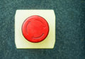 Red button with rotation symbol big recycle or arrows Royalty Free Stock Images