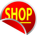 Red Button Shop Royalty Free Stock Photo