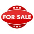 Red button with stars for sale Royalty Free Stock Photo