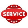 Red button with stars service