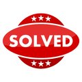 Red button with stars solved Royalty Free Stock Photo