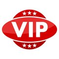 Red button with stars VIP Royalty Free Stock Photo