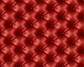 Red button-tufted leather background. Vector Royalty Free Stock Photo