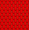 Red button-tufted velvet background. Royalty Free Stock Image